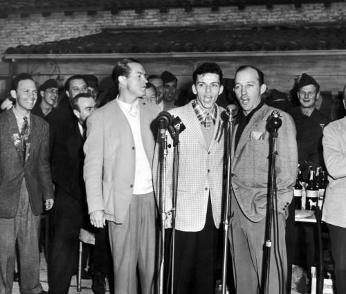 左から、ボブ・ホープ、フランク・シナトラ、ビング・クロスビー