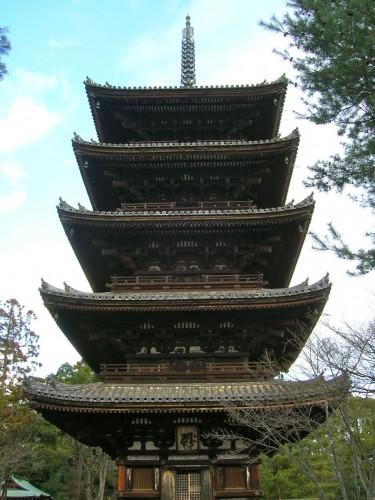 4年前の春休み、長女と訪れた仁和寺の五重塔。