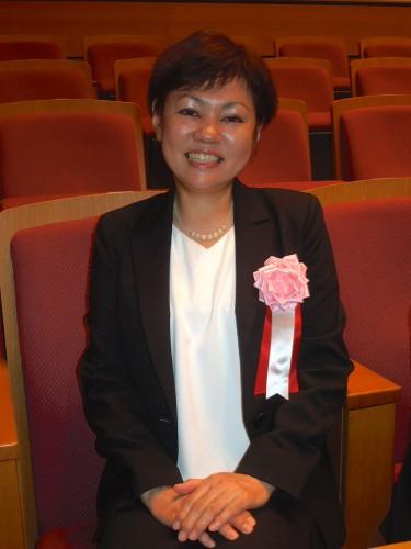 横田和美さん。表彰式前に会場にて