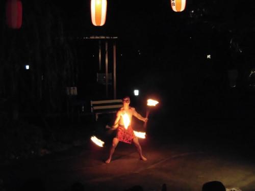 テ・ナティ・ヘレのファイアー・ダンス